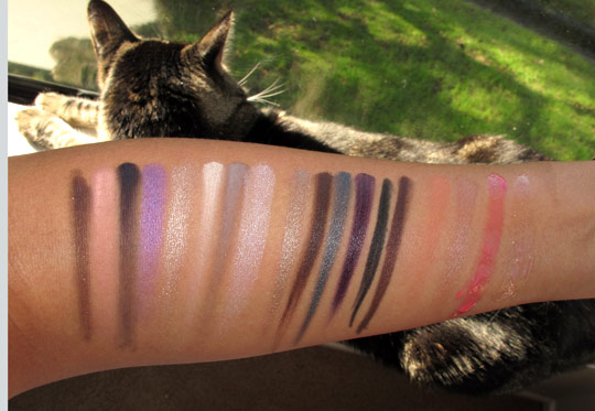 Smashbox Style Files swatches with the flash