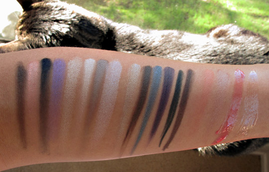 Smashbox Style Files swatches without the flash