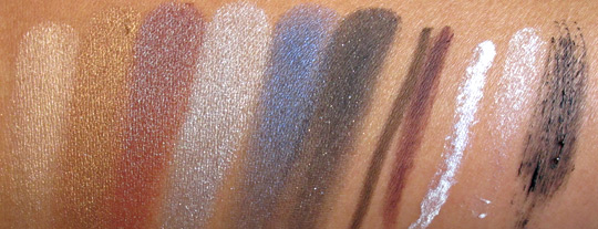 lorac multidimensional beauty collection swatches without flash