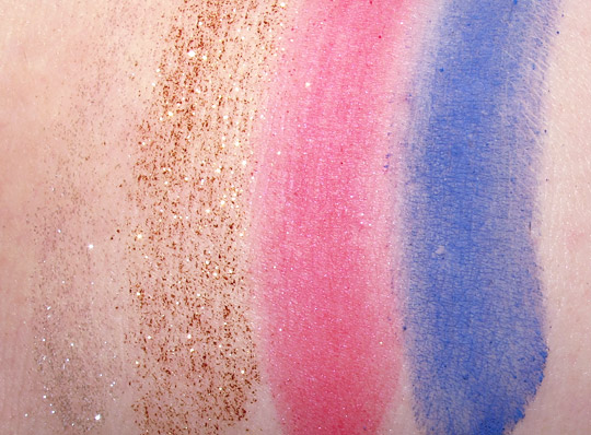 mac wonder woman swatches Reflects Glitters Pigments nw20