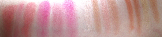 mac wonder woman swatches blushes msf without flash nw20