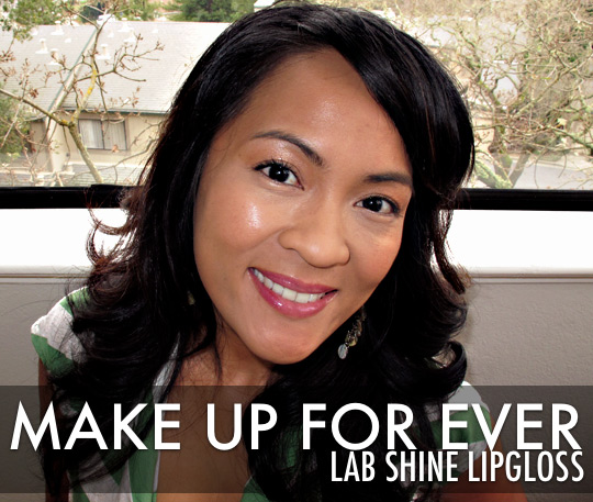 make up for ever lab shine on karen of makeup and beauty blog