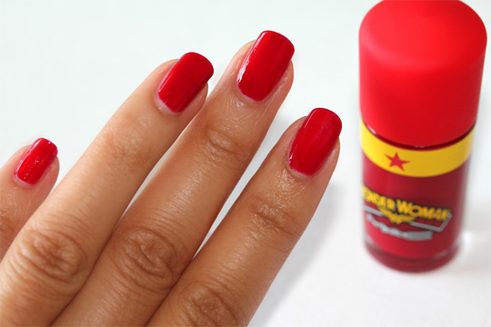 mac wonder woman nail lacquer in obey me