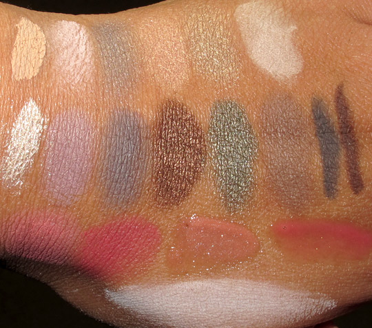 smashbox in bloom swatches