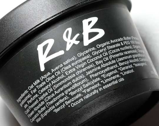 LUSH R&B Revive & Balance Hair Moisturizer ingredients