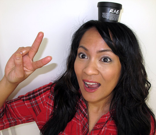 Karen of Makeup and Beauty Blog with LUSH R&B Revive & Balance Hair Moisturizer