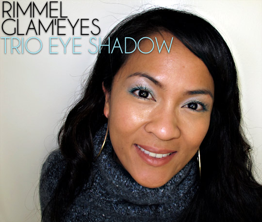 Karen of Makeup and Beauty Blog wearing Rimmel Glam Eyes Trio Eye Shadow in Maritime