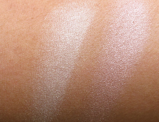 Tarte Provocateur Amazonian Clay Shimmering Powder swatches without the flash
