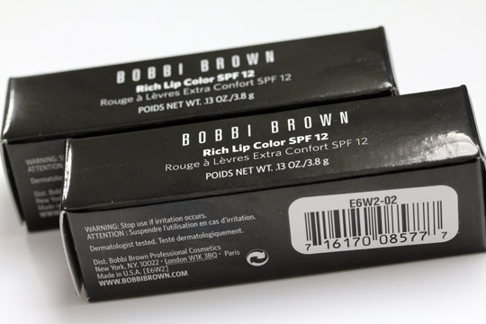 bobbi brown rich lip color spf 12 boxes