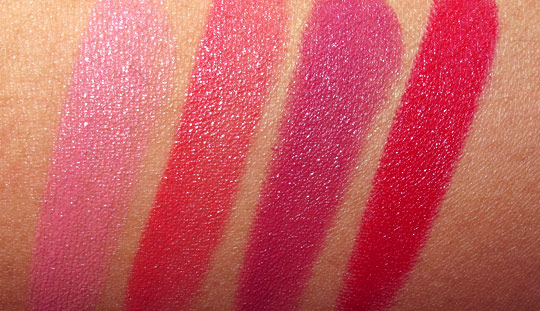 bobbi brown rich lip color swatches with the flash