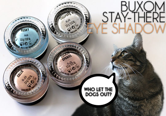 buxom stay there eye shadow swatches spring 2011