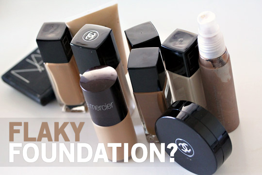 What to do about flaky foundation