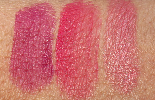hourglass aura sheer lip stain swatches