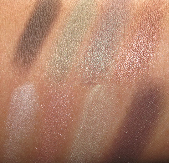 josie maran eye love you too palette swatches with the flash
