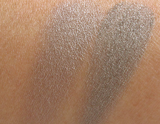 swatches of mac smoke and diamonds without the flash