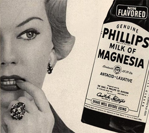 Is milk of magnesia a cure for oily skin?