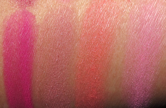 tarte amazonian clay blush swatches