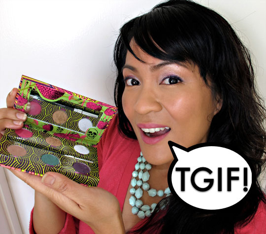 karen of makeup and beauty blog wearing the urban decay fun palette