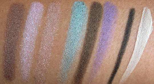 urban decay ud feminine palette swatches without flash
