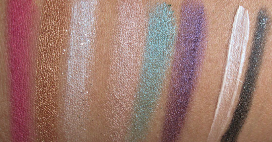urban decay ud fun palette swatches without the flash
