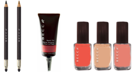 becca halcyon days collection spring 2011 liners beach tint nail colour