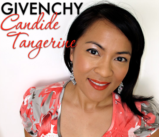 givenchy rouge inderdit in candide tangerine on karen of makeup and beauty blog