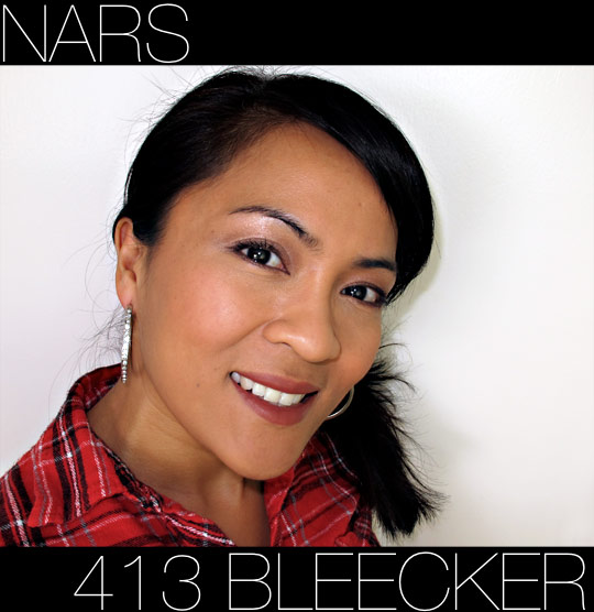 nars 413 bleeker pure matte lipstick on karen of makeup and beauty blog
