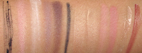 smashbox sultry sweet glambox swatches with flash