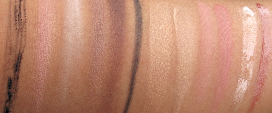 smashbox sultry sweet glambox swatches without flash