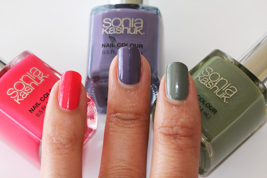 sonia kashuk tutti fruitti violetta fatigued swatches