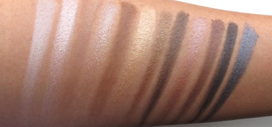 urban decay naked swatches without the flash