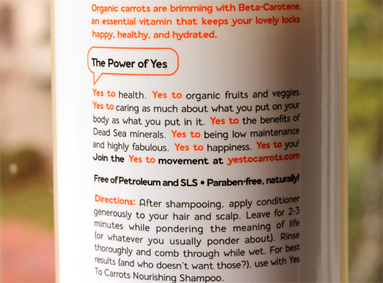 Yes To Carrots Pampering Conditioner