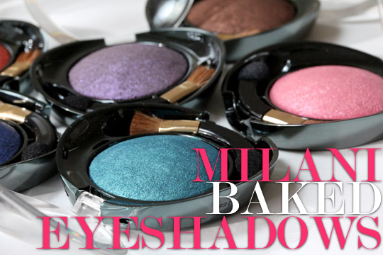 Milani Baked Eyeshadow Swatches