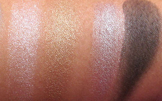 NARS Summer 2011 swatches exotic dance dogon without