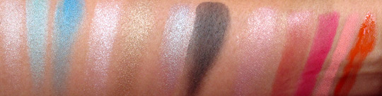 NARS Summer 2011 swatches swatches all without flash
