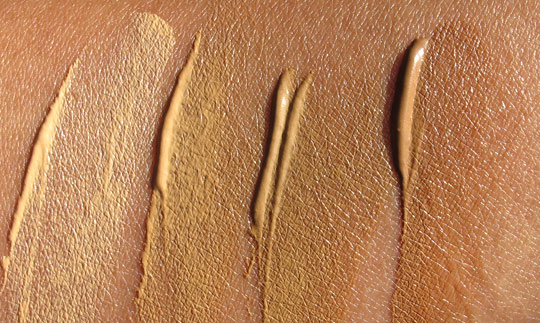 Urban Decay Urban Defense Tinted Moisturizer swatches without the flash