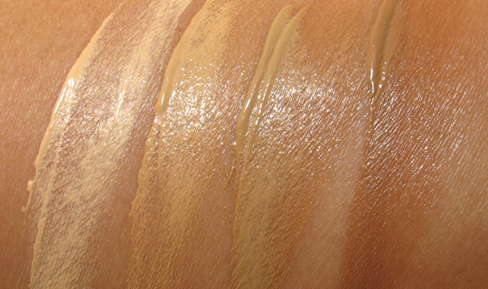 Urban Decay Urban Defense Tinted Moisturizer swatches with the flash