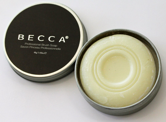 the best makeup brushes. becca professional rush soap