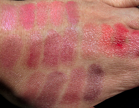 chanel rouge coco shine swatches without flash