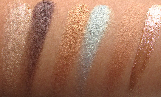 lorac hot off the red carpet swatches without