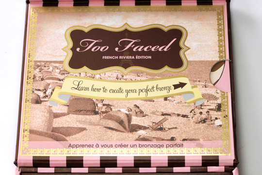 too faced the bronzed the beautiful french riviera box inside