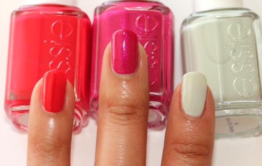 essie summer 2011 too too hot super bossa nova absolutely shore