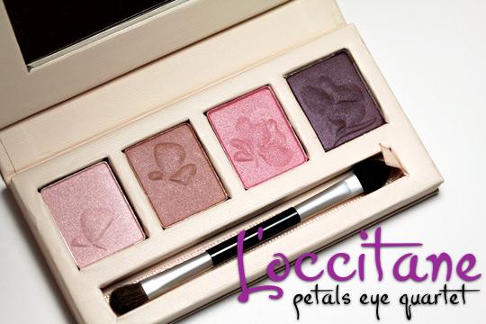 loccitane pivoine petals eye quartet