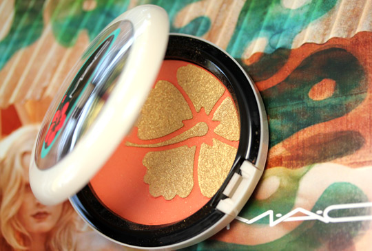 mac surf baby my paradise cheek powder review