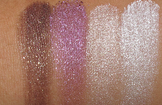 mac surf baby swatches Crushed Metallic Pigment in Summer Stash