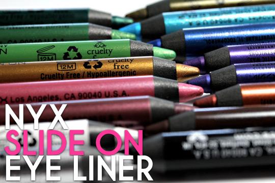 nyx slide on eye liner review