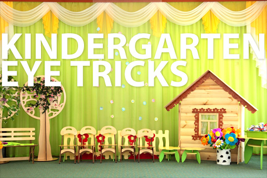 Kindergarten eye tricks
