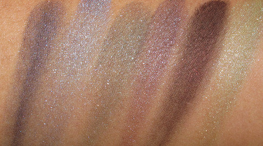 mac semi precious collection msf eyeshadows swatches