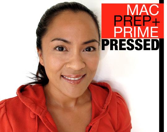 mac prep prime transparent finishing powder pressed