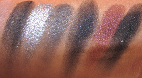 tarte for true blood palette swatches 3